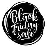 Black Friday-Verkoop het van letters voorzien Vector illustratie Stock Afbeelding