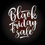 Black Friday-Verkoop het van letters voorzien Vector illustratie Royalty-vrije Stock Afbeelding