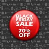 Black Friday-Verkoop het winkelen Aanbieding en Bevorderingsachtergrond op vooravond van Vrolijke Kerstmis Royalty-vrije Stock Afbeeldingen