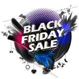 Black Friday-Verkoop het winkelen Aanbieding en Bevorderingsachtergrond op vooravond van Vrolijke Kerstmis Royalty-vrije Stock Afbeelding