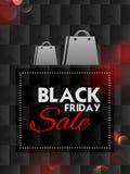 Black Friday-Verkoop het winkelen Aanbieding en Bevorderingsachtergrond op vooravond van Vrolijke Kerstmis Stock Foto