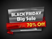 Black Friday-Verkoop het winkelen Aanbieding en Bevorderingsachtergrond op vooravond van Vrolijke Kerstmis Royalty-vrije Stock Fotografie