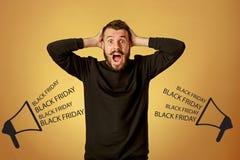 Black Friday-verkoop - vakantie het winkelen concept Stock Foto