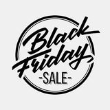 Black Friday-Verkoop Van letters voorziend Kenteken Stock Afbeelding