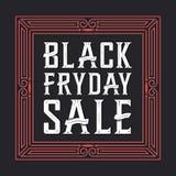 Black Friday-Verkoopachtergrond Creatieve doopvont Stock Afbeeldingen