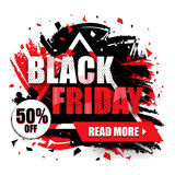 Black Friday-Verkoopaffiche, Banner of Vlieger Stock Afbeelding