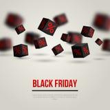 Black Friday-verkoopaffiche Vector illustratie Stock Illustratie