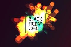 Black Friday-Verkoopbanner met abstract licht royalty-vrije illustratie