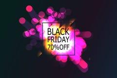 Black Friday-Verkoopbanner met abstract licht vector illustratie
