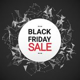 Black Friday-Verkoopbericht over Abstract Geometrisch de Bannerconcept van de Achtergrondvakantiekorting Stock Fotografie