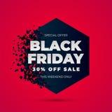 Black Friday-Verkoopexplosie royalty-vrije illustratie