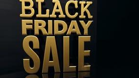 Black Friday-Verkoopgoud royalty-vrije illustratie
