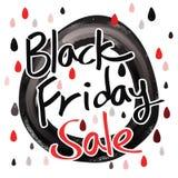 Black Friday-Verkoopkalligrafie Stock Afbeelding