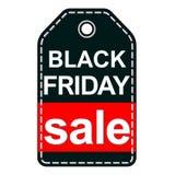 Black Friday-verkoopmarkering op witte achtergrond wordt geïsoleerd die Royalty-vrije Stock Foto's