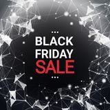 Black Friday-Verkooptekst over Abstract Geometrisch de Bannerconcept van de Achtergrondvakantiekorting Stock Foto's