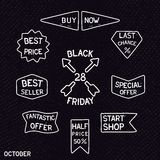 Black friday vintage signs Royalty Free Stock Image