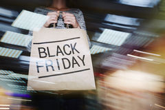 Black Friday w centrum handlowym Fotografia Stock