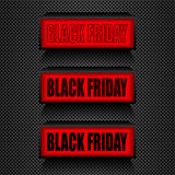 Black friday. Warning message Sale and discount. Stock Photography