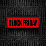 Black friday. Warning message Sale and discount. Royalty Free Stock Photo