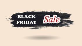 Black Friday watercolor banner design Stock Photo