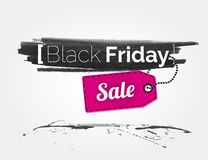 Black Friday watercolor banner with splashes Stock Images