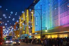 Black Friday weekend in Londen de eerste verkoop vóór Kerstmis Regent Street Stock Foto's