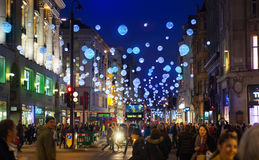 Black Friday weekend in London the first sale before Christmas. Oxford street Royalty Free Stock Photo