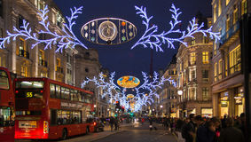 Black Friday weekend in London the first sale before Christmas. Regent street Royalty Free Stock Photography