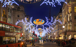 Black Friday weekend in London the first sale before Christmas. Regent street Royalty Free Stock Photos