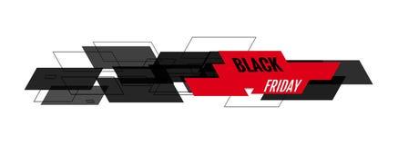 Black Friday wektoru sztandar Obraz Royalty Free
