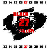 Black Friday on a white Royalty Free Stock Photography