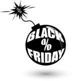 Black Friday wholesale bomb. Royalty Free Stock Photos