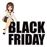 Black Friday Woman Text Royalty Free Stock Photo