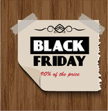 Black Friday on  wooden background Royalty Free Stock Image