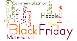 Black Friday Word Cloud. On a white background Stock Photo