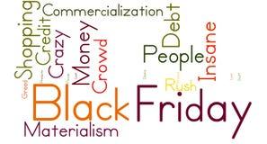 Black Friday Word Cloud Stock Photo