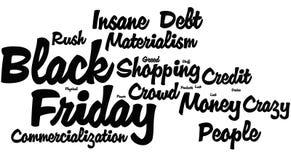 Black Friday-Word Wolk stock afbeelding