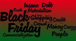 Black Friday-Word Wolk royalty-vrije stock foto's