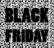 Black friday words on special shopping background Stock Photography
