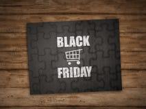 Black friday writing on puzzle Royalty Free Stock Photo