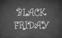 Black Friday written with chalk on blackboard Royalty Free Stock Photo