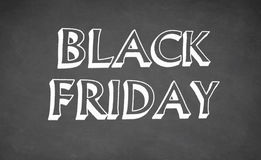Black Friday written with chalk on blackboard Royalty Free Stock Image