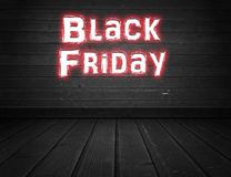Black Friday. Written on wall royalty free stock photography