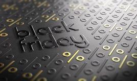 Black Friday wydarzenia znak Zdjęcia Stock