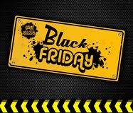Black Friday yellow door sign Royalty Free Stock Image