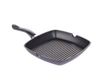 Black frying grill pan Royalty Free Stock Images