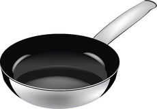 Black frying pan Stock Photo