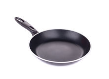 Black frying pan. Royalty Free Stock Images