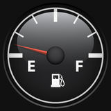 Black fuel gage Stock Photo