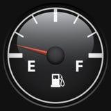 Black fuel gage Stock Photo